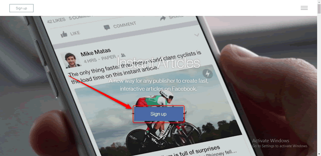 وێنەی نموونەی Facebook Instant Articles
